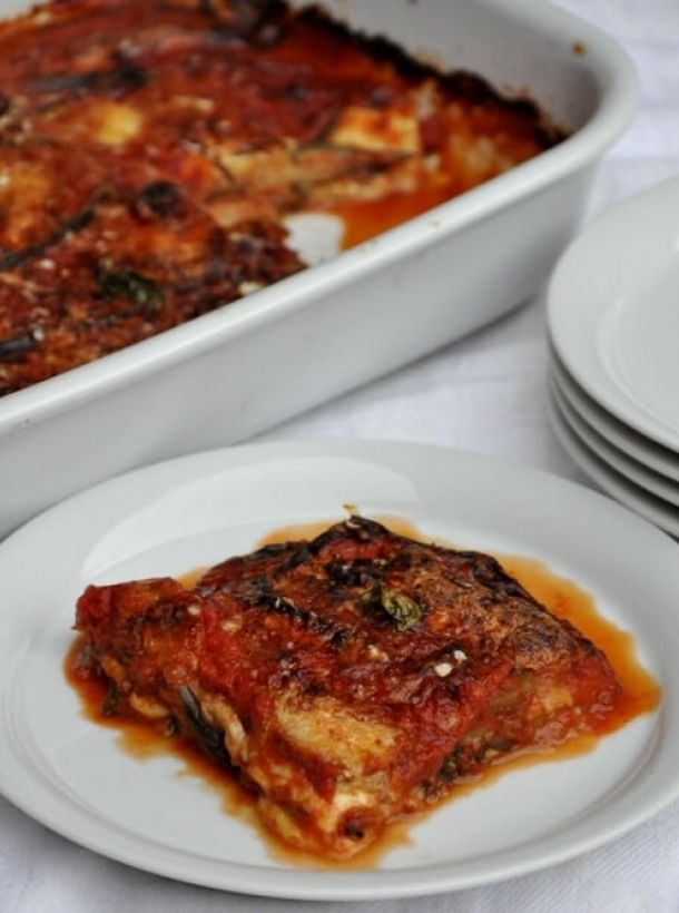 VEGETARIAN MENU WITH EGGPLANT PARMIGIANA